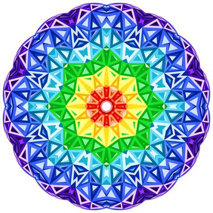 rainbow mandala web